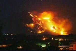 Incendio sul Monte Morrone